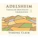 Adelsheim Staking Claim Chardonnay 2015 Front Label