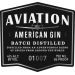 Aviation Gin  Front Label
