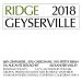 Ridge Geyserville 2018  Front Label