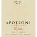 Apolloni Vineyards Estate Pinot Noir 2016  Front Label