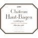 Chateau Haut-Bages Liberal  2016  Front Label