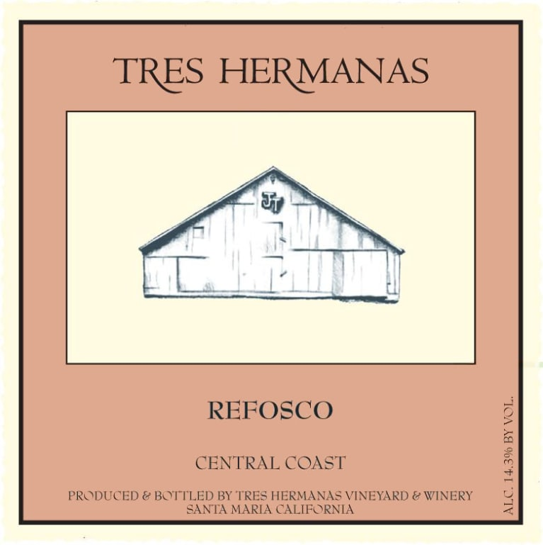 Tres Hermanas Vineyard & Winery Refosco 2010  Front Label