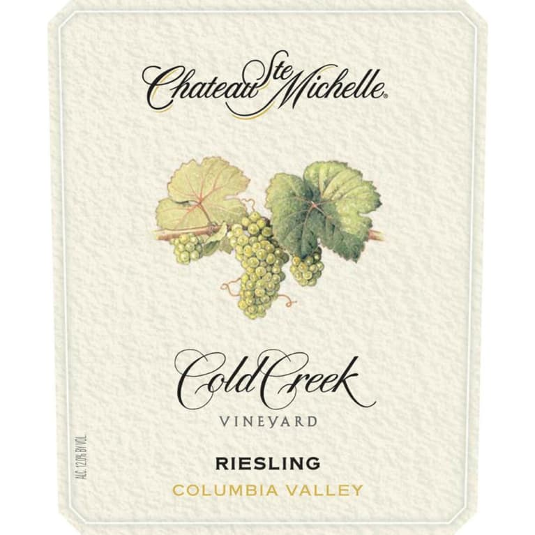 Chateau Ste. Michelle Cold Creek Vineyard Riesling 2008 Front Label