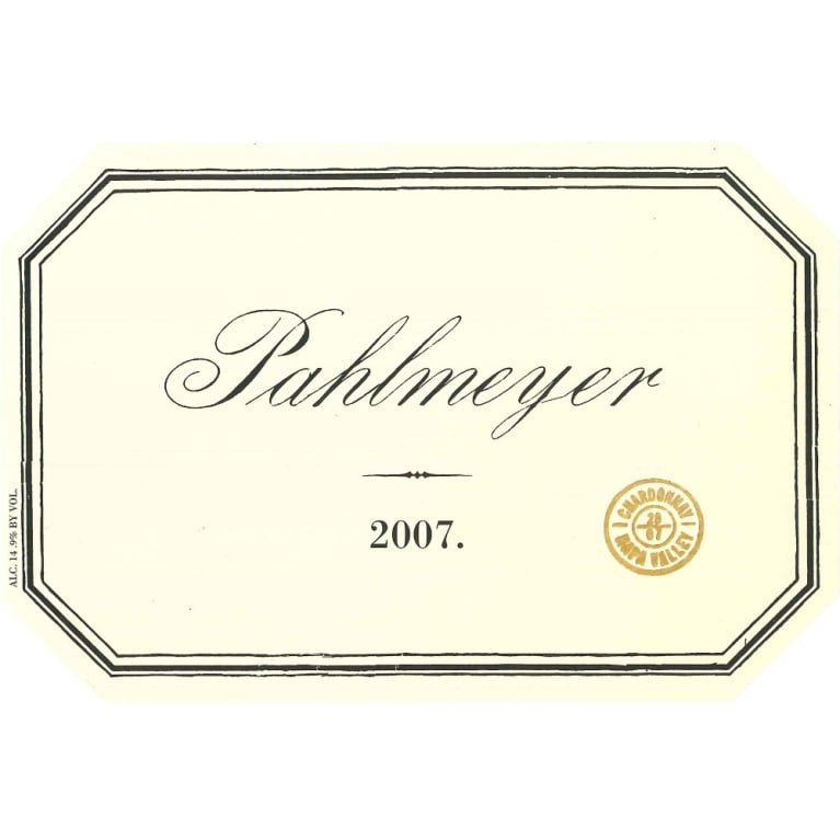 Pahlmeyer Napa Valley Chardonnay 2007 Front Label