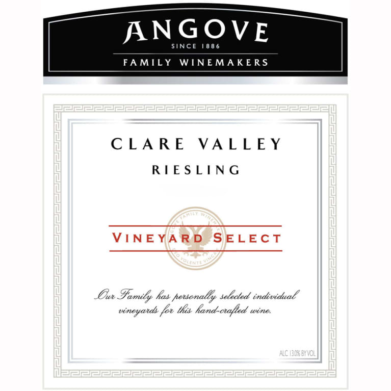 Angove Family Winemakers Clare Valley Vineyard Select Riesling 2007 Front Label