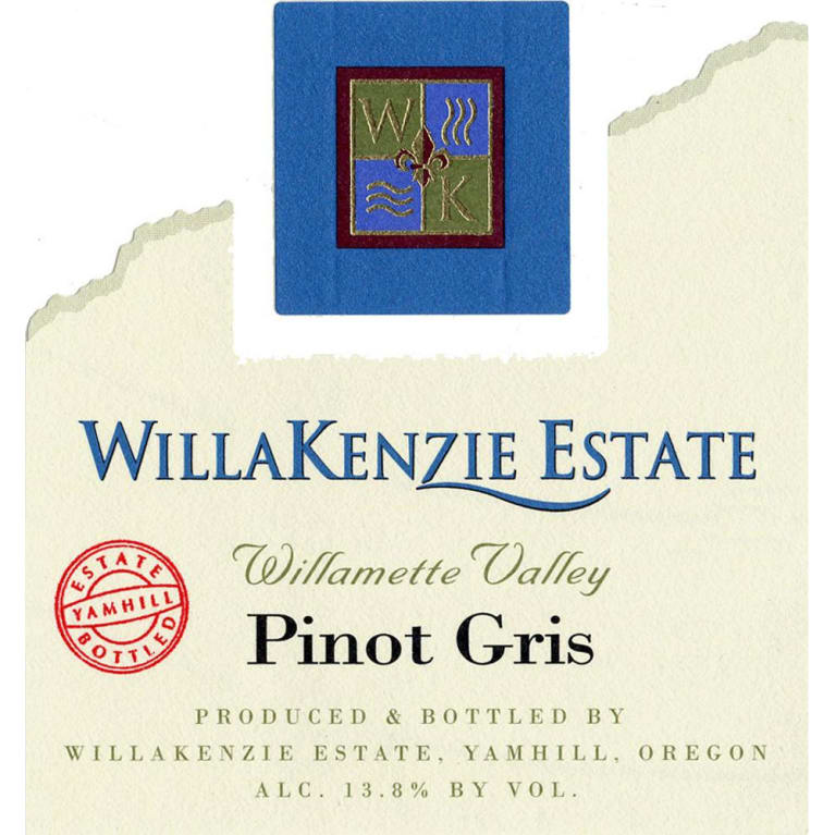 WillaKenzie Estate Pinot Gris 2008 Front Label