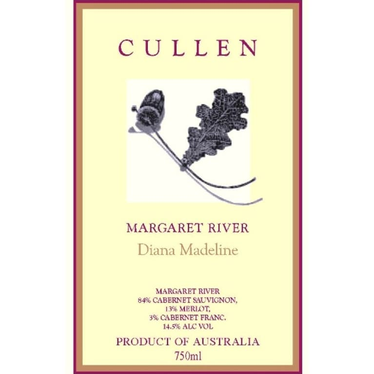 Cullen Diana Madeline 2005 Front Label
