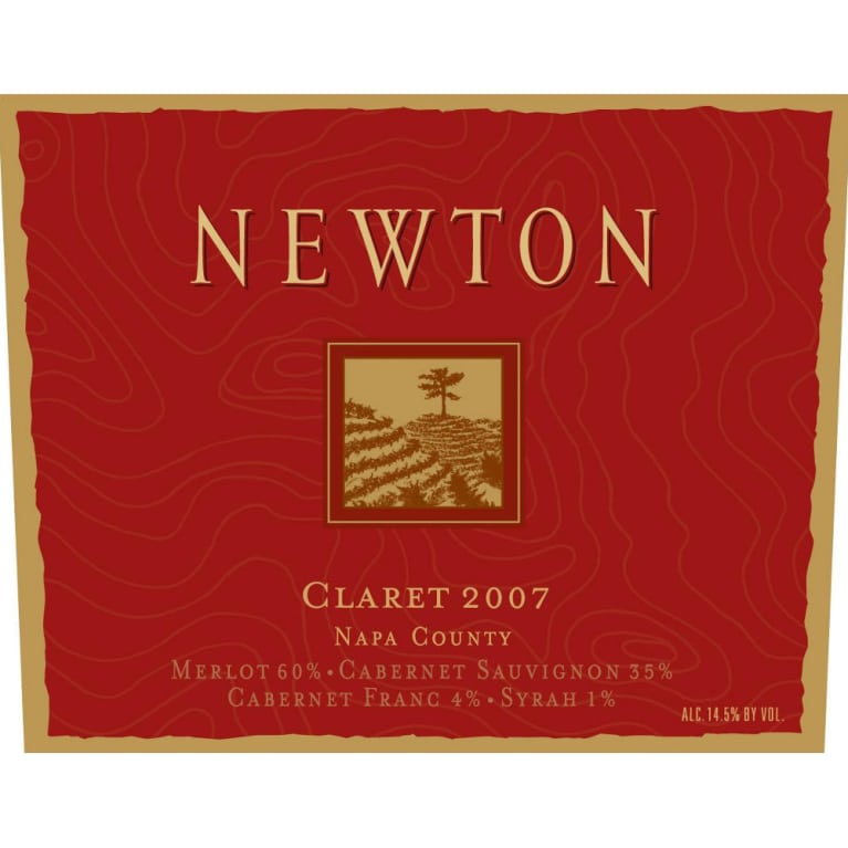 Newton Claret 2007 Front Label