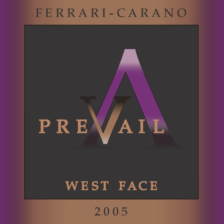 PreVail Alexander Valley West Face 2005 Front Label
