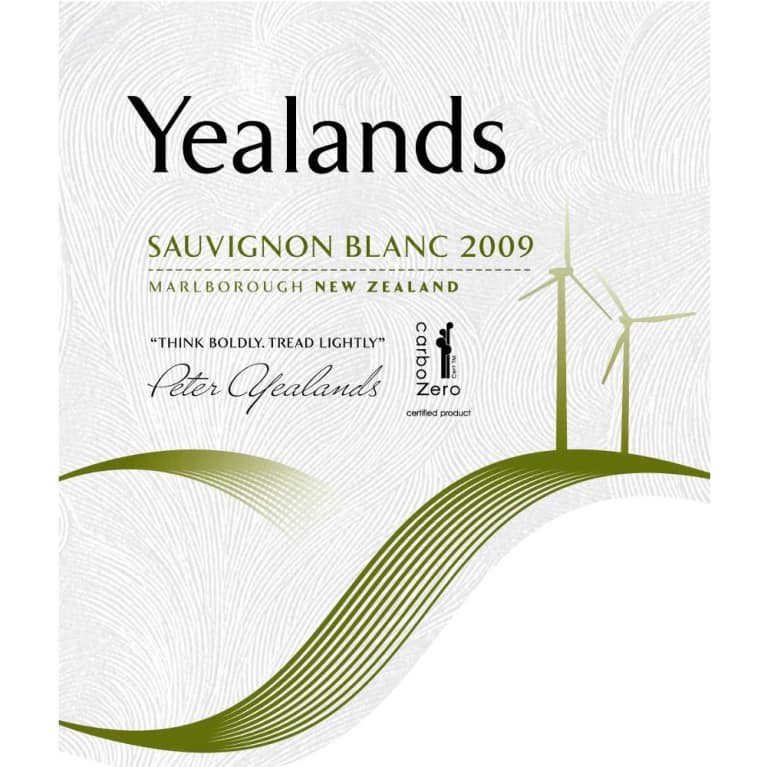 Yealands Sauvignon Blanc 2009 Front Label