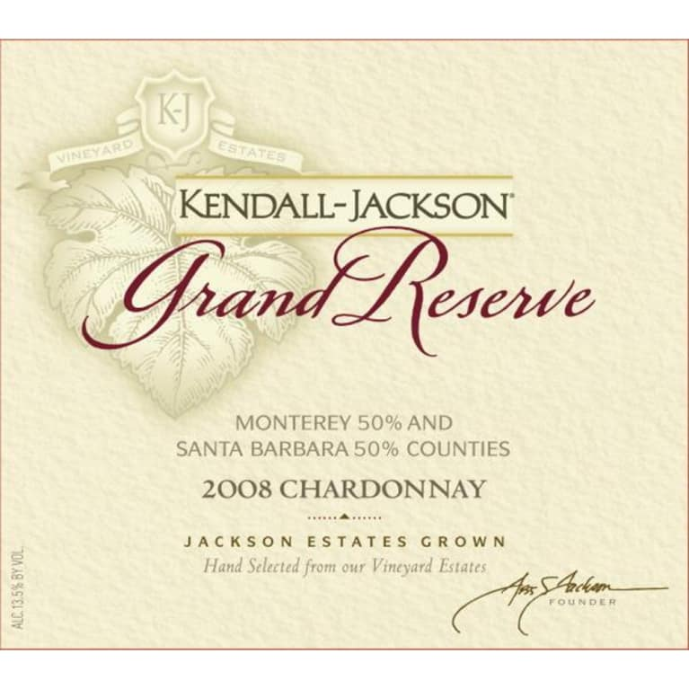 Kendall-Jackson Grand Reserve Chardonnay 2008 Front Label