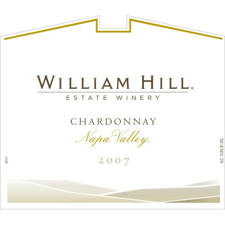 William Hill Napa Valley Chardonnay 2007 Front Label