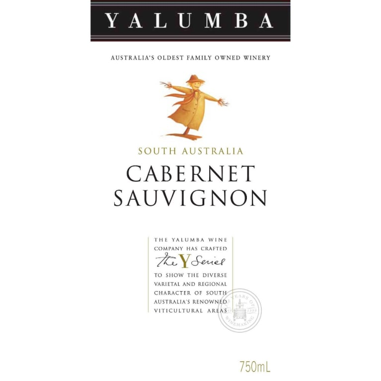 Yalumba Y Series Cabernet Sauvignon 2008 Front Label
