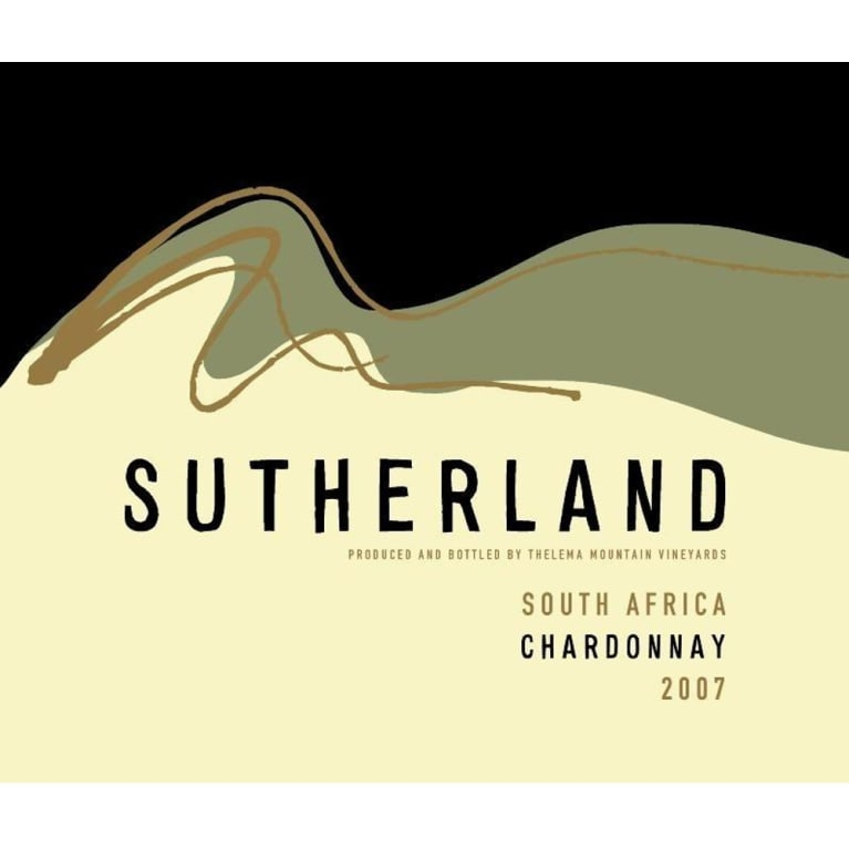 Thelema Sutherland Chardonnay 2007 Front Label