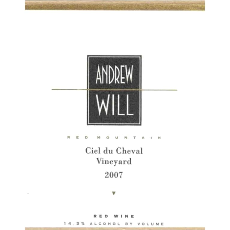 Andrew Will Winery Ciel du Cheval 2007 Front Label
