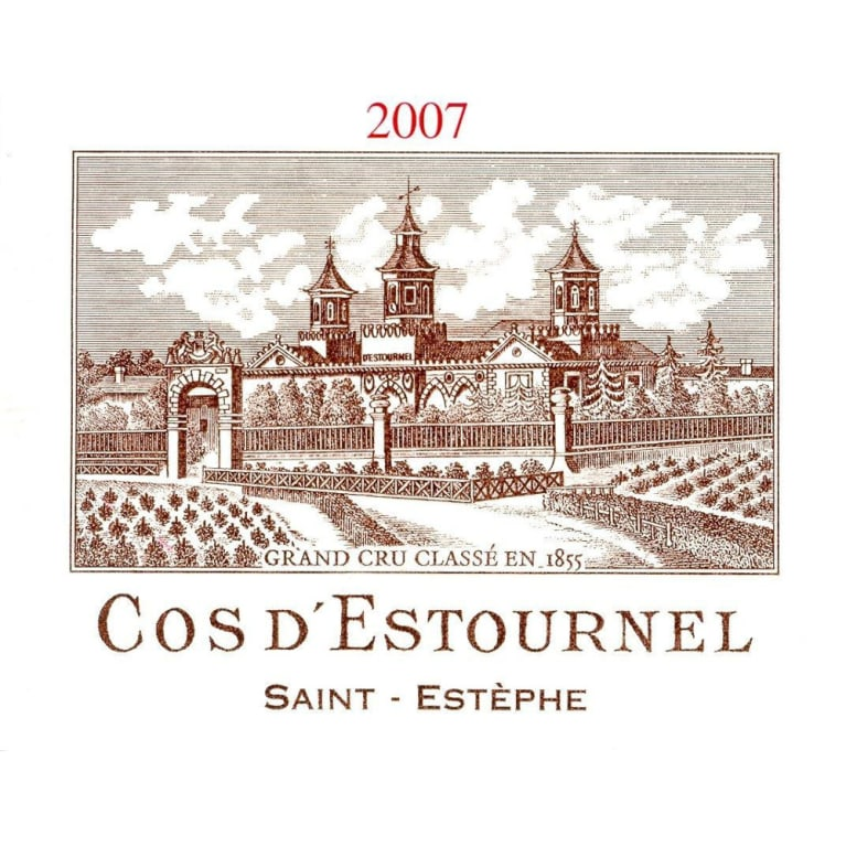 Chateau Cos d'Estournel  2007 Front Label