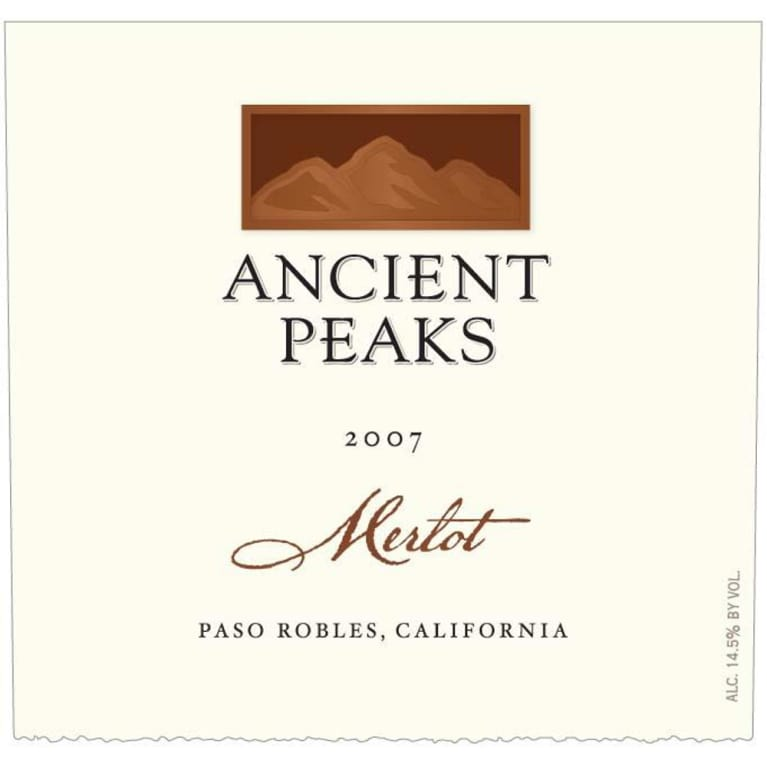 Ancient Peaks Paso Robles Merlot 2007 Front Label