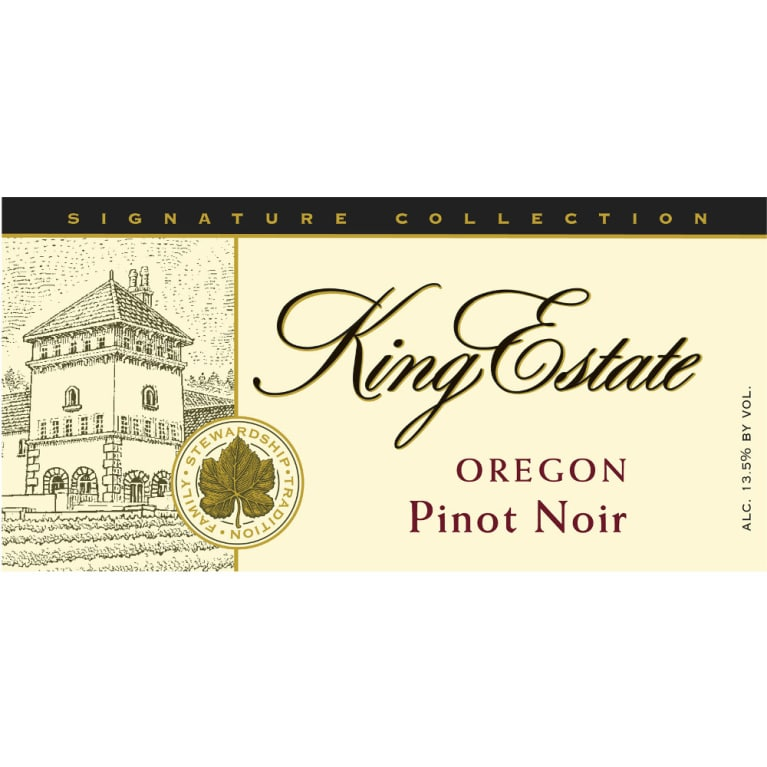 King Estate Willamette Valley Pinot Noir 2008 Front Label