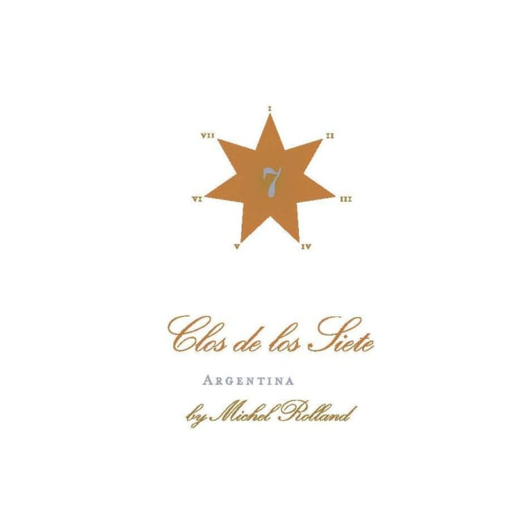 Clos de los Siete Red Blend 2008 Front Label