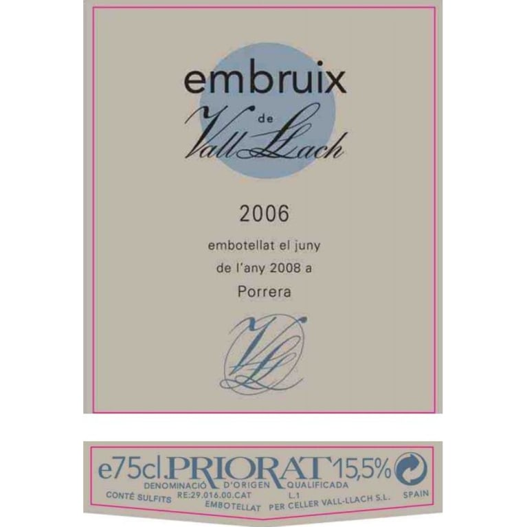 Vall Llach Embruix 2006 Front Label