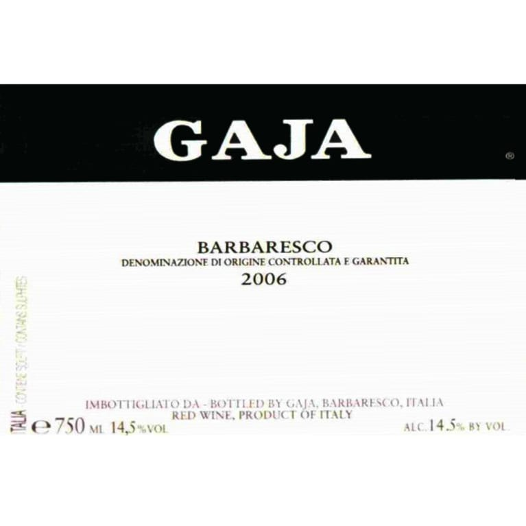 Gaja Barbaresco 2006 Front Label