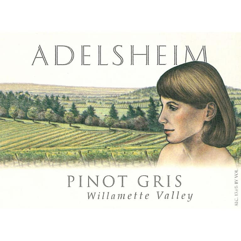 Adelsheim Pinot Gris 2008 Front Label
