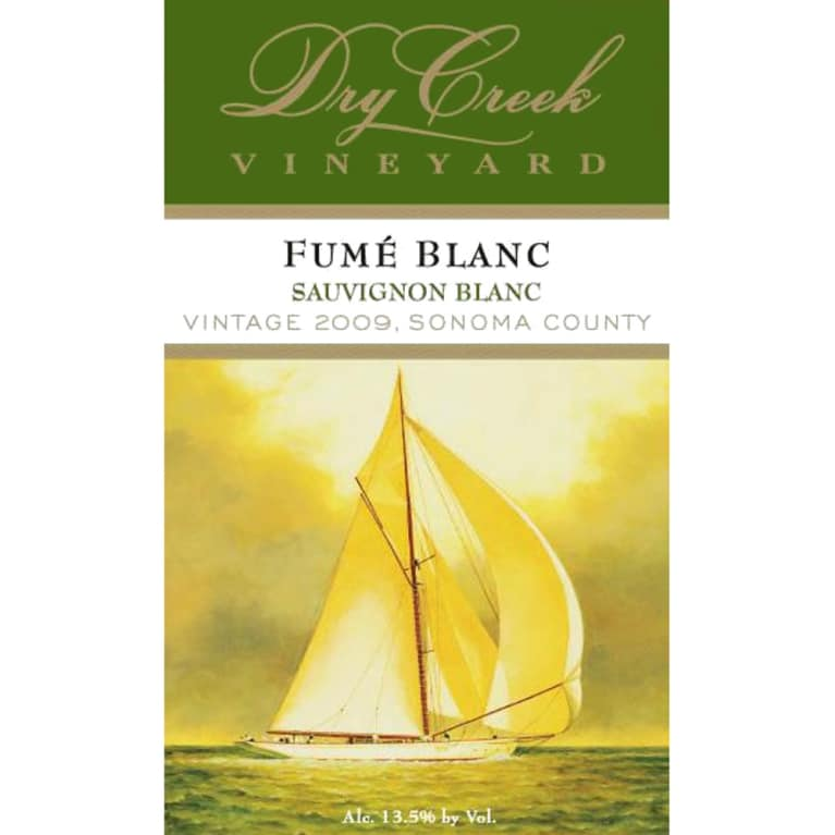Dry Creek Vineyard Fume Blanc 2009 Front Label