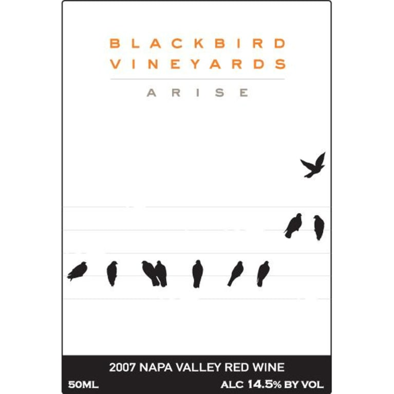 Blackbird Vineyards Arise Napa Valley Proprietary Red 2007 Front Label