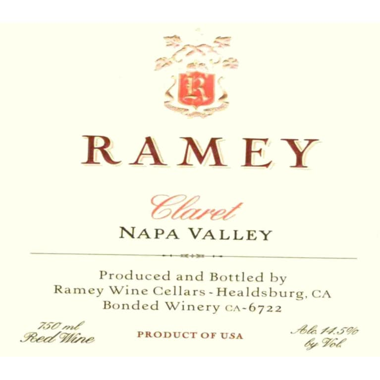 Ramey Napa Valley Claret 2006 Front Label