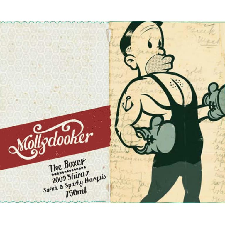 Mollydooker The Boxer Shiraz 2009 Front Label