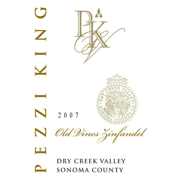 Pezzi King Old Vine Zinfandel 2007 Front Label