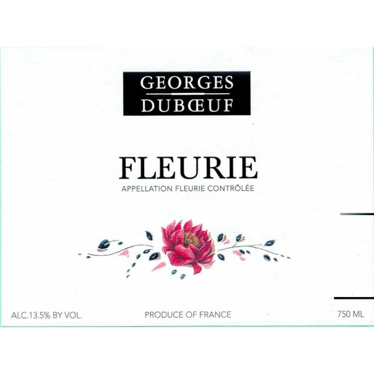 Duboeuf Fleurie 2009 Front Label