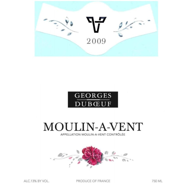 Duboeuf Moulin-a-Vent 2009 Front Label