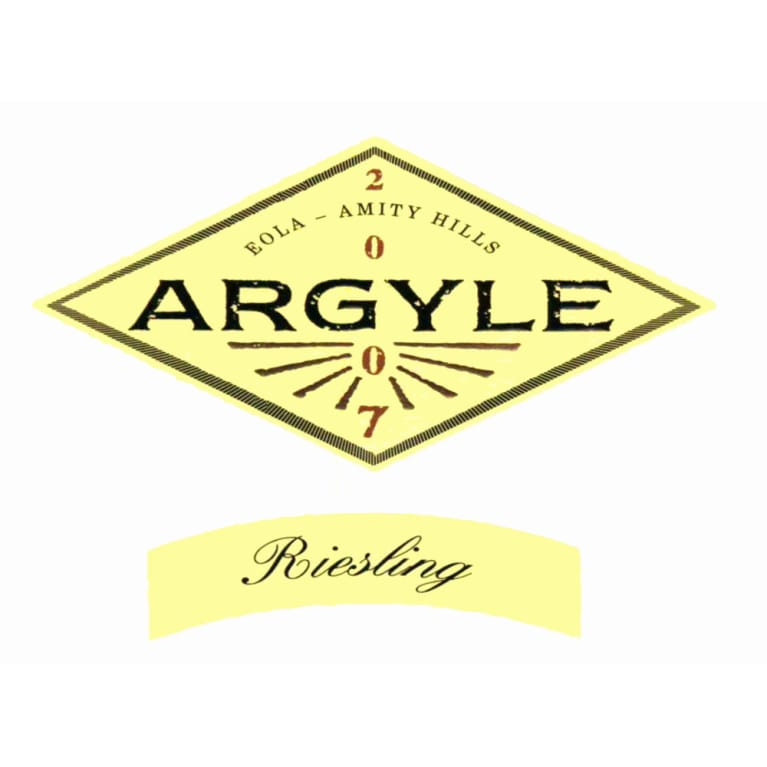 Argyle Riesling 2007 Front Label