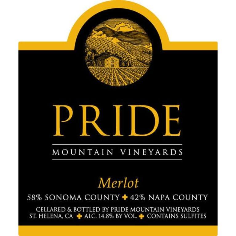 Pride Mountain Vineyards Merlot 2007 Front Label