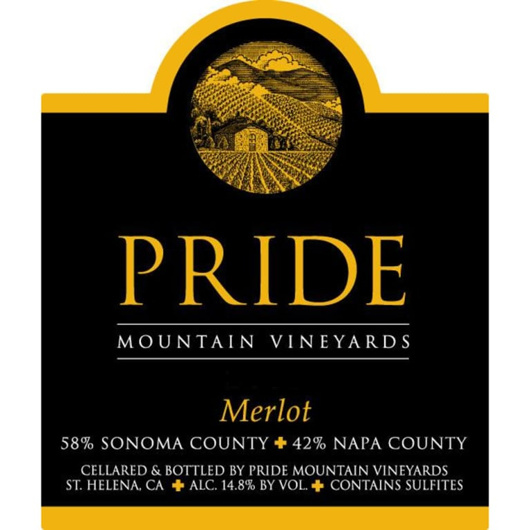 Pride Mountain Vineyards Merlot (375ML half-bottle) 2007 Front Label