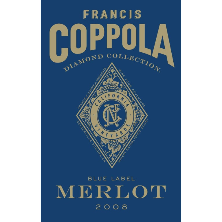 Francis Ford Coppola Diamond Collection Merlot 2008 Front Label