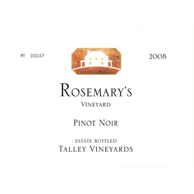 Talley Rosemary's Vineyard Pinot Noir 2008 Front Label