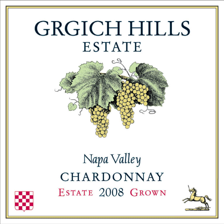 Grgich Hills Estate Chardonnay 2008 Front Label