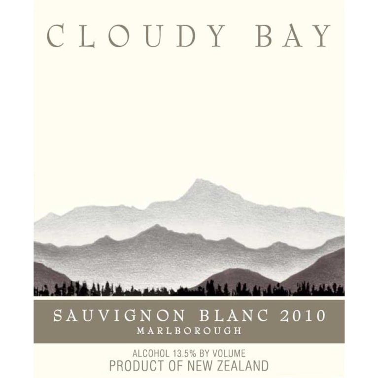 Cloudy Bay Sauvignon Blanc 2010 Front Label