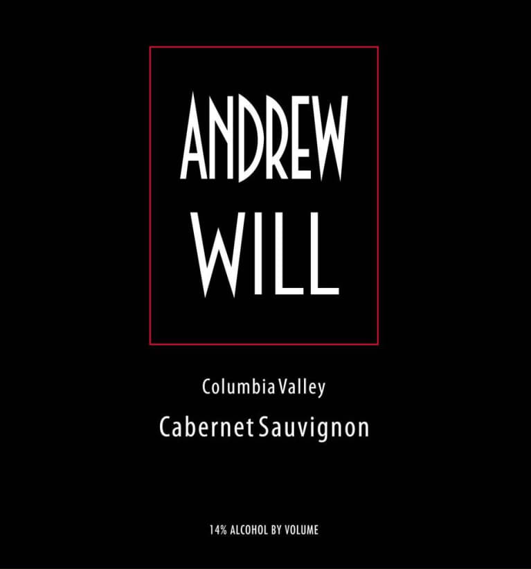 Andrew Will Winery Cabernet Sauvignon 2014 Front Label