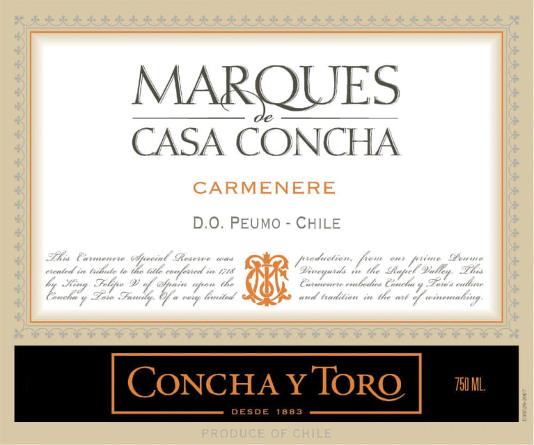 Image result for Concha y Toro Marques de Casa Concha Carmenere 2015 Rapel Valley