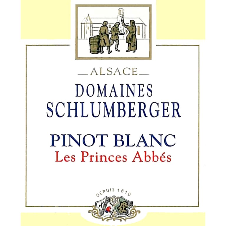 Domaines Schlumberger Les Princes Abbes Pinot Blanc 2007 Front Label
