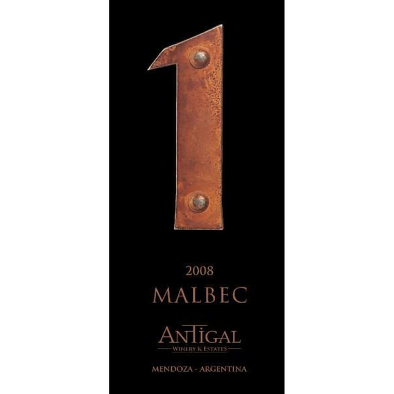 Antigal Uno Malbec 2008 Front Label