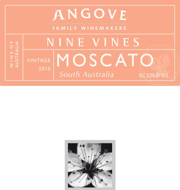 Angove Family Winemakers Nine Vines Moscato 2010 Front Label