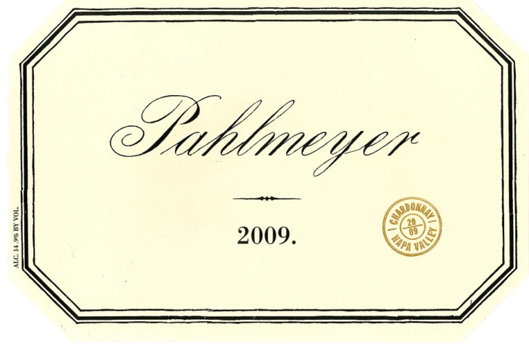 Pahlmeyer Napa Valley Chardonnay 2009 Front Label