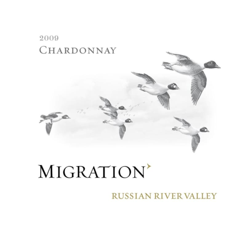 Migration Russian River Chardonnay (375ML half-bottle) 2009 Front Label