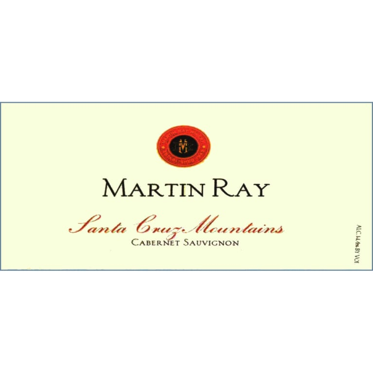 Martin Ray Santa Cruz Mountains Cabernet Sauvignon 2007 Front Label