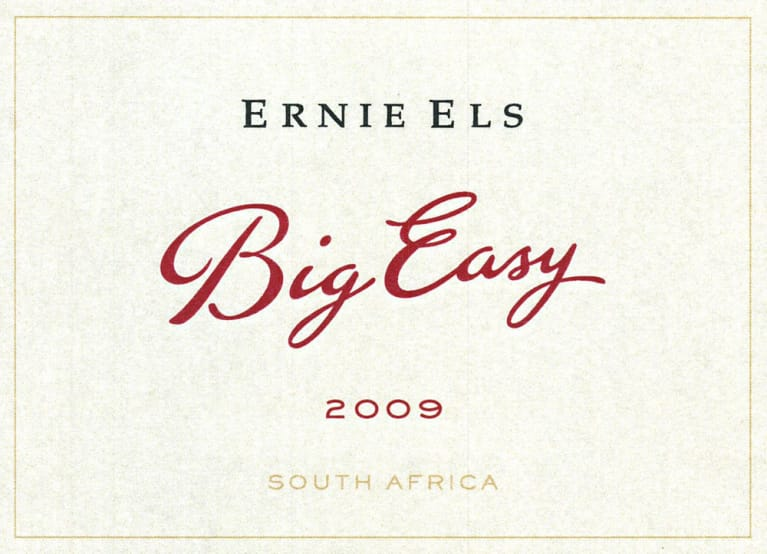 Ernie Els Big Easy Red Blend 2009 Front Label