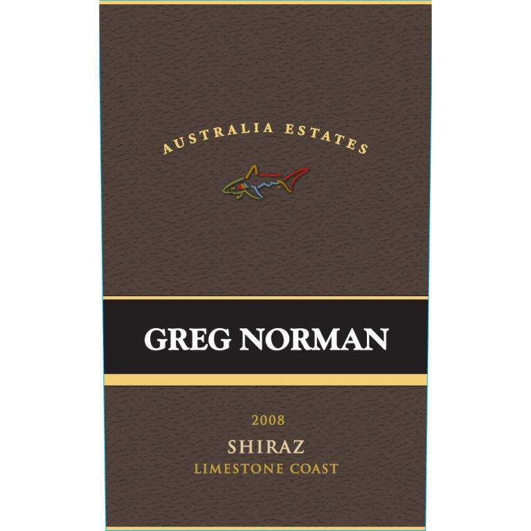 Greg Norman Estates Limestone Coast Shiraz 2008 Front Label